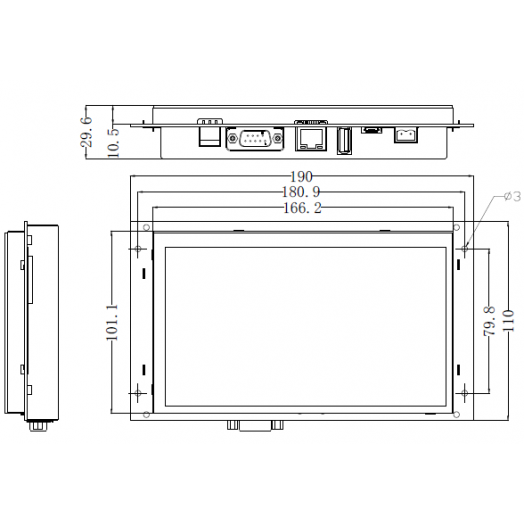 Панель оператора MT4070ER Kinco
