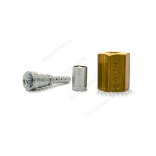 Обжимной фитинг прямой с клапаном 1/4 RFS437