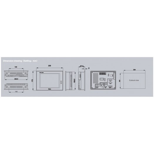 Панель оператора F080E Kinco
